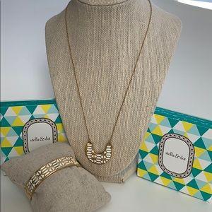 Breezeblock Enamel Pendant Necklace and Bangle